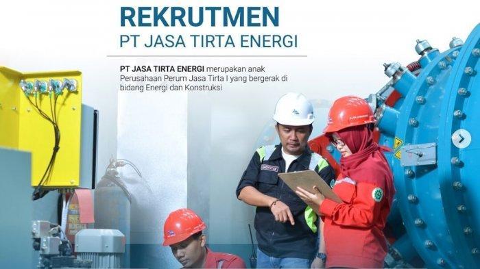 LOWONGAN KERJA Terbaru BUMN Jadi Direktur Anak Perusahaan di PT Jasa Tirta Energi, Gaji Menjanjikan