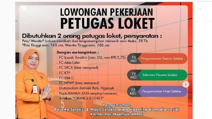 Untuk Lulusan SMA/SMK dan D3, Tiga Lowongan Kerja PT Pos Indonesia, Simak Kriterianya