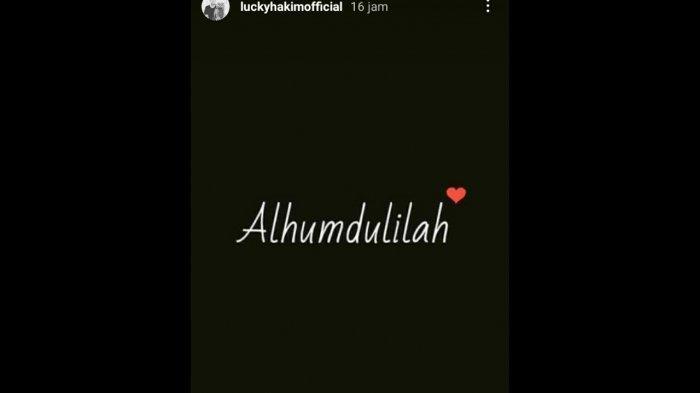 Ucapan syukur Lucky Hakim.