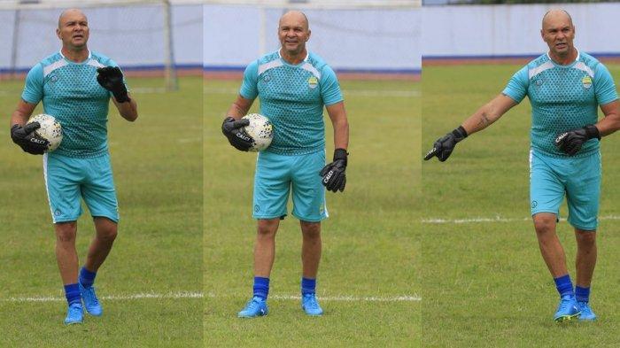 Luizinho Passos, pelatih kiper Persib Bandung.