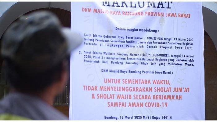 Sempat Ada Warga Ngamuk, DKM Masjid Raya Bandung Tak Pasang Spanduk Pengumuman Tempat Ibadah Ditutup