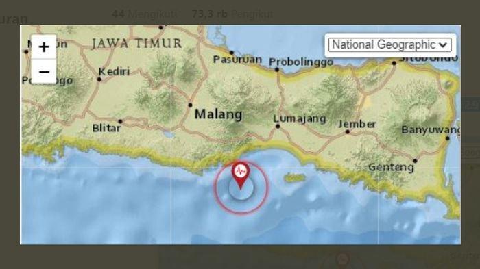 Malam ini, Gempa Melanda Turen Malang Jatim, BMKG juga Melaporkan Lindu di Gunungkidul Yogyakarta