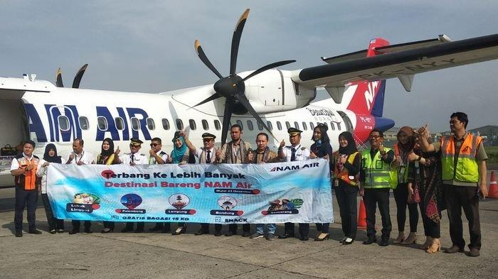 Nam Air Resmi Layani Jalur Penerbangan Baru dari Bandung ke Sumatera, Dikoneksikan dengan Semarang