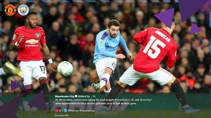Manchester City Permalukan Manchester United di Old Trafford di Piala Liga Inggris