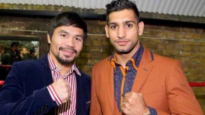 Amir Khan Tantang Manny Pacquiao untuk Naikkan Level, Ingin Tarung di Qatar