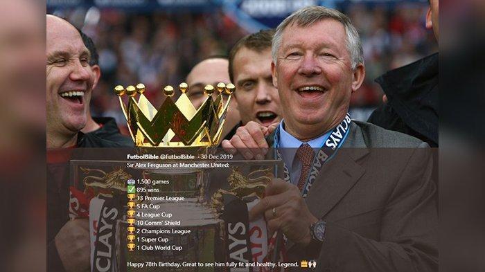 Mantan pelatih Manchester United, Sir Alex Ferguson
