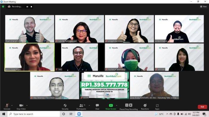 Manulife Indonesia Peduli Penanganan COVID-19 dengan Donasi Lebih dari 500 Tabung Oksigen