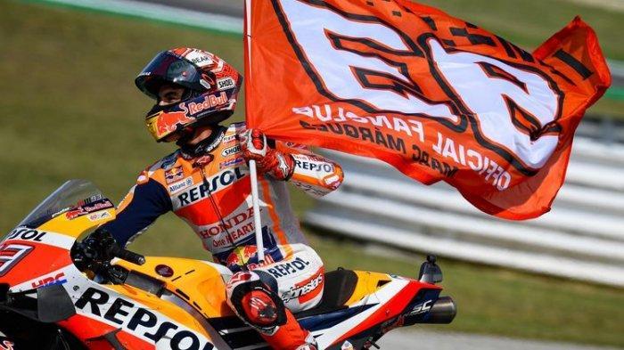 Marc Marquez meraih gelar juara dunia MotoGP 2019 di Thailand.