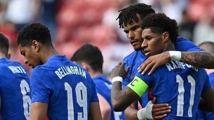 Hasil Uji Coba Timnas Inggris vs Rumania, Marcus Rashford Bangga Kenakan Ban Kapten dan Mencetak Gol