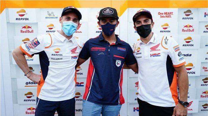 Dua Pebalap MotoGP Beri Semangat Mario Aji