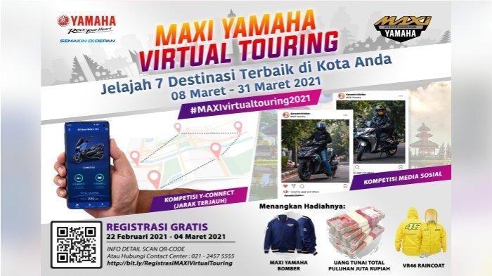 Maxi Yamaha Virtual Touring 2021, Sensasi Touring ke Destinasi Menarik dengan Aplikasi Y-Connect