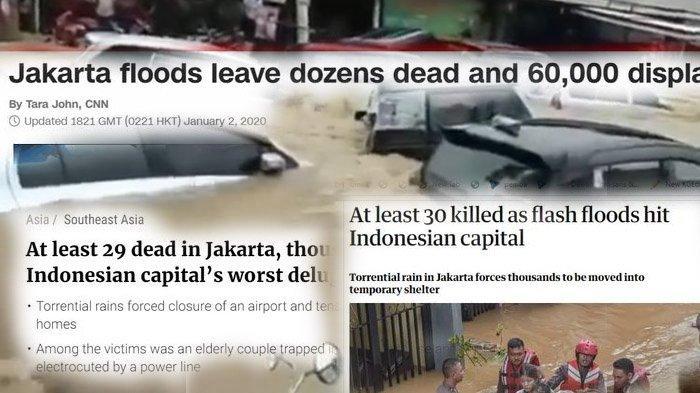 Begini Isi Sejumlah Media Internasional yang Memberitakan Banjir Melanda Jakarta 2020