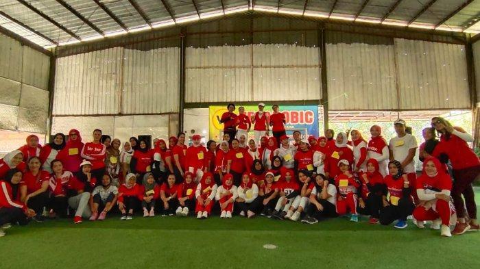 HUT ke-75 RI, Vegarobic Gelar Lomba Senam Aerobik dan Futsal, Heboh Banget Suasana Pun Pecah