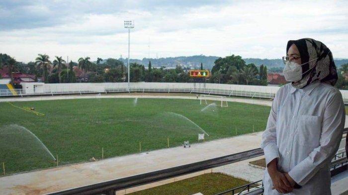 Menengok Stadion Purnawarman, Kebanggaan Warga Purwakarta, Pembangunan Sudah 83 Persen