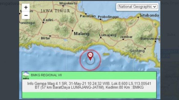 Menjelang Siang Ini, Gempa Bumi Menggoyang Lumajang Jatim, BMKG: Gempa Juga Melanda Melonguane Sulut