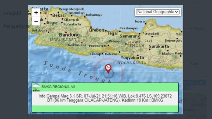 Menjelang Tengah Malam, Gempa Bumi Melanda Cilacap Jateng, Sebelumnya Lindu Guncang Jayapura Papua
