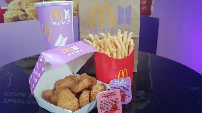 Menu BTS Meal dari McDonald's Indonesia atau McD