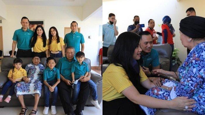 Foto kebersamaan mertua SBY dengan cucu dan cicit.