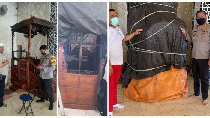 Mimbar Masjid Raya Makassar Dibakar, Pelaku Malah Senyum-senyum saat Diinterogasi