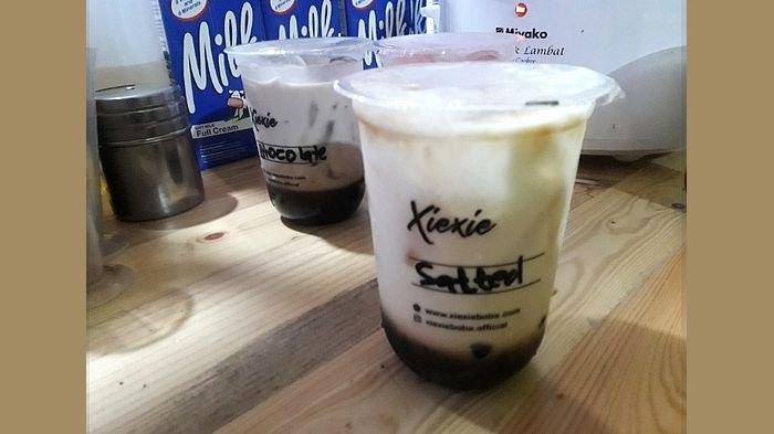 Meneguk Segarnya Xie Xie Boba Salted Sugar Caramel yang Rasanya Manis Gurih ketika Cuaca Panas