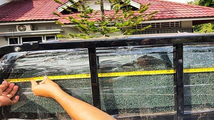 Mobil Anggota DPRD Sintang Ditembak Orang Tak Dikenal, Peluru Hampir Kena Kepala Sang Anak
