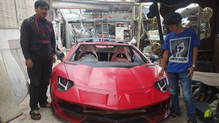 Warga Cianjur Buat Mobil Lamborghini Aventador Berbahan Fiber, Sudah Ditest Drive