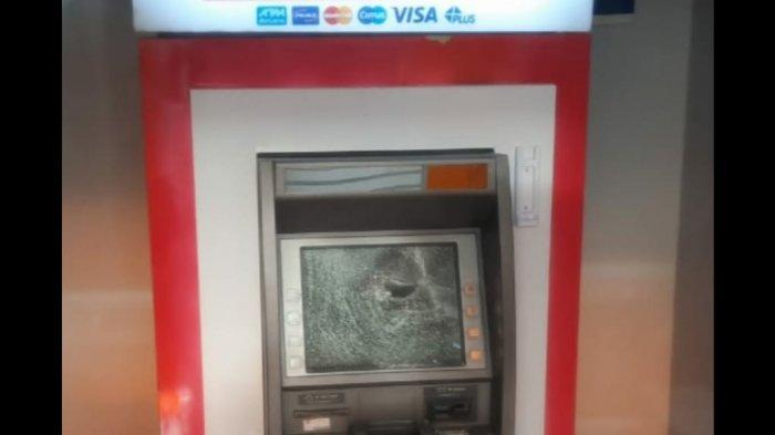 ATM di Jalan RE Martadinata Kota Tasik Dirusak Orang tak Dikenal, Monitor ATM Pecah