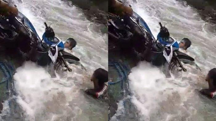 Sepeda Motor Pernah Terseret, Warga Cianjur Trauma Seberangi Sungai Cigonggang Saat Meluap