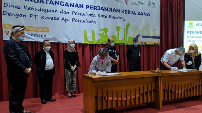 Tingkatkan Kunjungan Wisatawan, Disbudpar Kota Bandung Jalin Kerjasama dengan PT KA Pariwisata