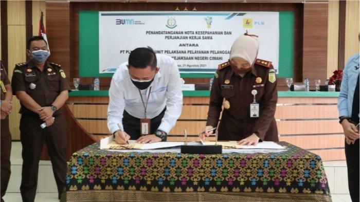 PLN UP3 Cimahi dan Kejari Tandatangani MoU Bantuan Hukum