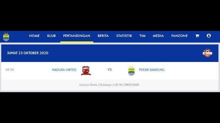 Laga Madura United vs Persib Bandung.