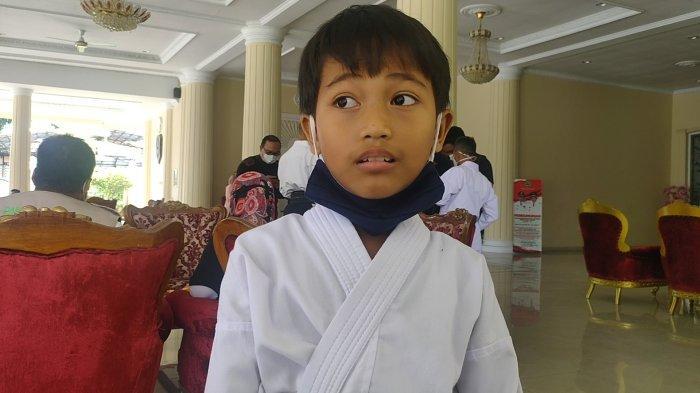 Didukung Orangtuanya, Bocah Asal Majalengka Ini Raih Emas Kejuaraan Karate Tingkat Internasional