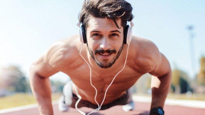 Ilustrasi olahraga sambil mendengarkan musik