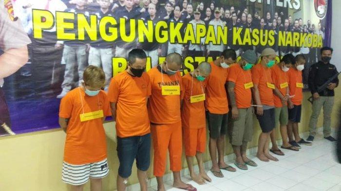 Sembilan Orang yang Diduga Pengedar Ditangkap Satnarkoba Polrestabes Bandung