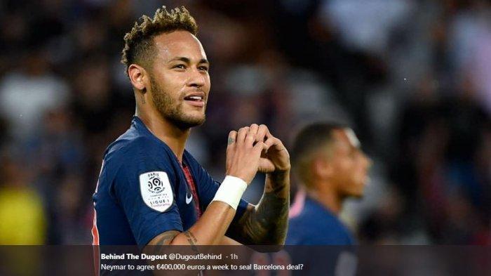 Klub asal Catalan, Barcelona, dan Neymar dikabarkan sudah mencapai kesepakatan secara lisan untuk kembali bekerja sama pada musim depan.