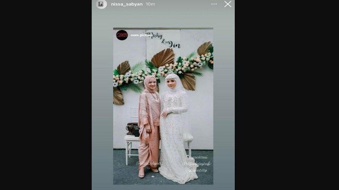 Nissa Sabyan di pernikahan
