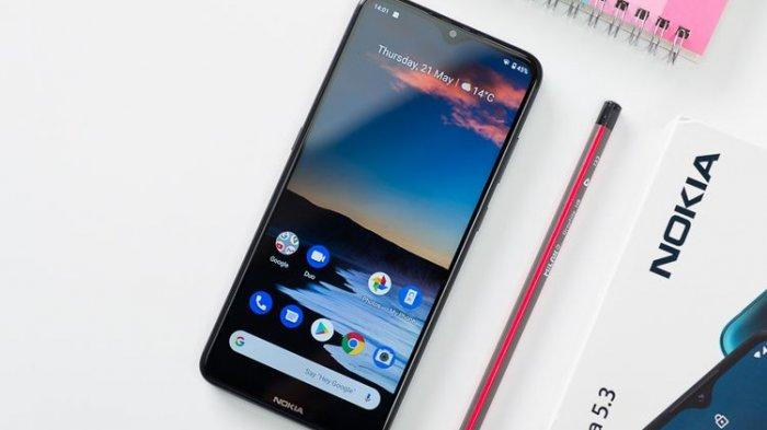 Tampilan Smartphone Terbaru Nokia 5.3 Layar Berponi Spesifikasi Mumpuni, Siap Dibeli Harga Rp 3 Juta