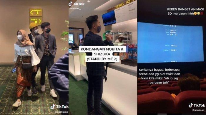 VIDEO VIRAL Nonton Bioskop Pakai Baju Kondangan, Petugas Tiket: Mau ke Kondangan Nobita, ya?