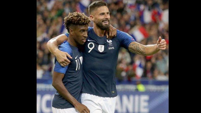Hasil UEFA Nations League, Prancis vs Swedia, Olivier Giroud Cetak Dua Gol, Swedia Degradasi