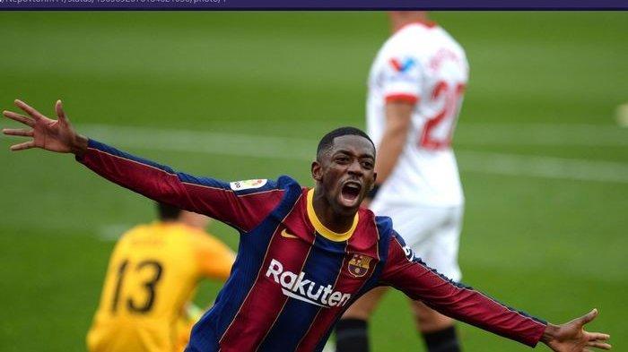 Barcelona Bungkam Sevilla 2-0, Ousmane Dembele dan Lionel Messi Cetak Gol