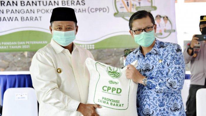 Pak Uu Serahkan 159 Ton Beras untuk Korban Banjir Subang
