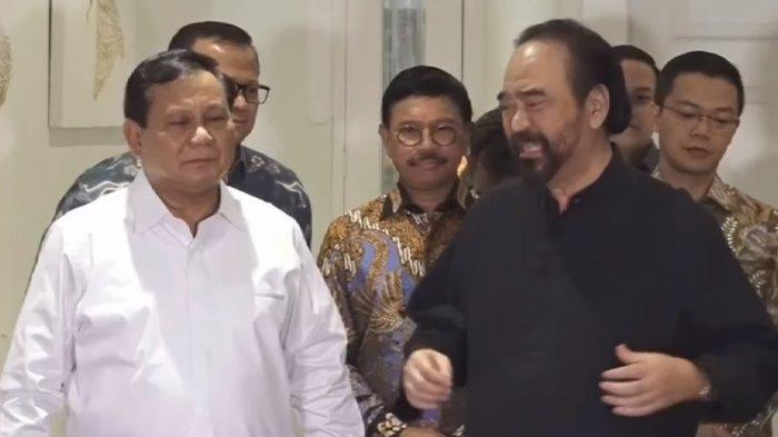 Ngobrol dan Makan Malam Bareng Prabowo, Surya Paloh Bantah Bahas Posisi Menteri Jokowi 2019-2024