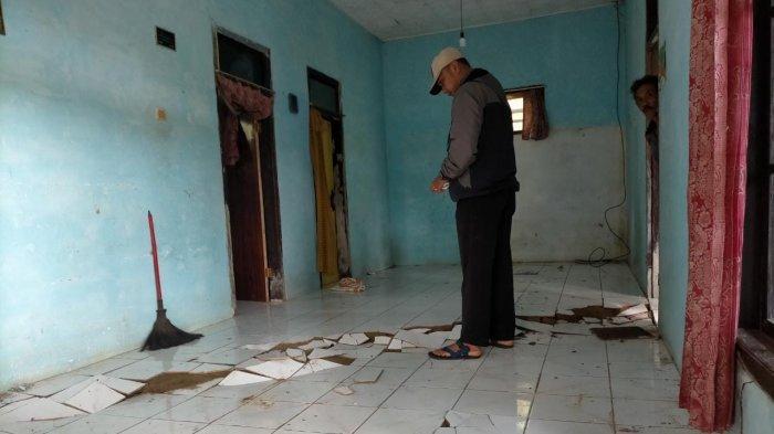 140 Warga Mengungsi Dampak Pergerakan Tanah di Kawali Ciamis, 4 Rumah Rusak Parah