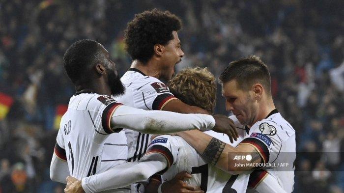 Libas Makedonia Utara, Jerman Tim Pertama Lolos ke Piala Dunia 2022 Qatar, Timo Werner Cetak Brace