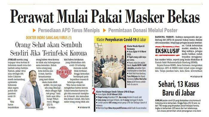 EKSKLUSIF- Sehari, 13 Kasus Covid-19 Baru di Jawa Barat, Ridwan Kamil Akan Tes Sekali Lagi
