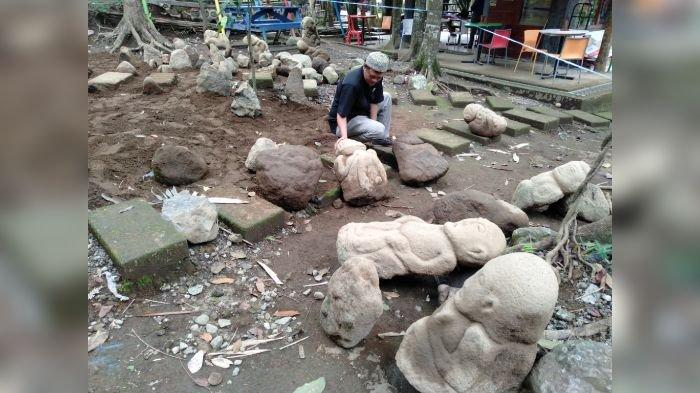 Kepala Dinas Pariwisata Terkejut Puluhan Patung Diduga Artefak Ditemukan di Batu Mahpar Tasikmalaya