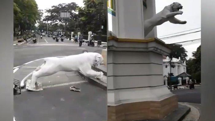 Viral, Patung Maung Bandung di Braga Jatuh, Terdengar Suara Keras Malam Sebelumnya, Ini Kata Dinas