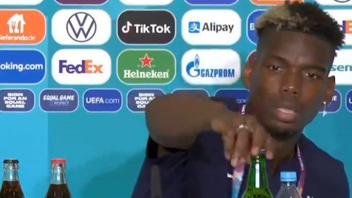 Cristiano Ronaldo Geser Botol Coca cola, Paul Pogba Pindahkan Botol Bir Lenyap dari Pandangan