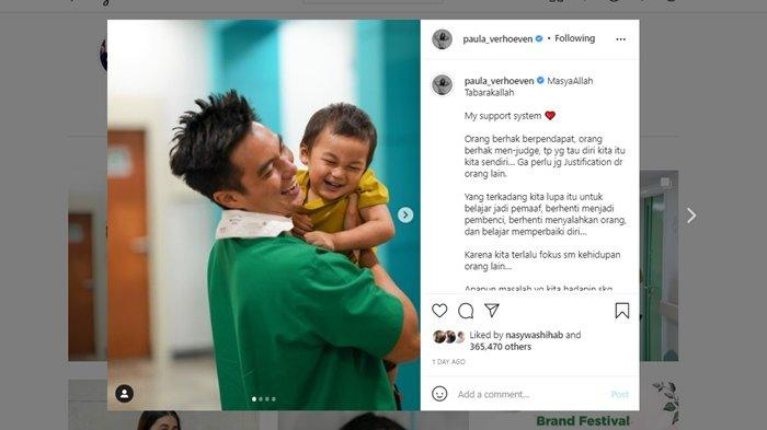 Di tengah ramainya kecaman untuk Baim Wong gara-gara video viral dengan Pak Suhud (70), Paula Verhoeven menuliskan pesan menyentuh.