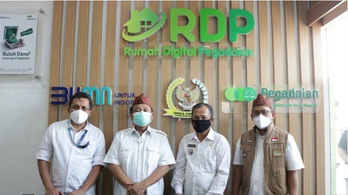 Pegadaian meresmikan Rumah Digital Pegadaian di desa Cihaur, Kecamatan Simpenan Sukabumi